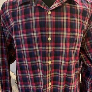 Formal Shirt Claiborne Size XL Pink 80s Ply